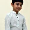 Classic handloom Mul kurta for boys