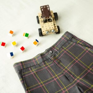 Little Mechanic (checked shorts)