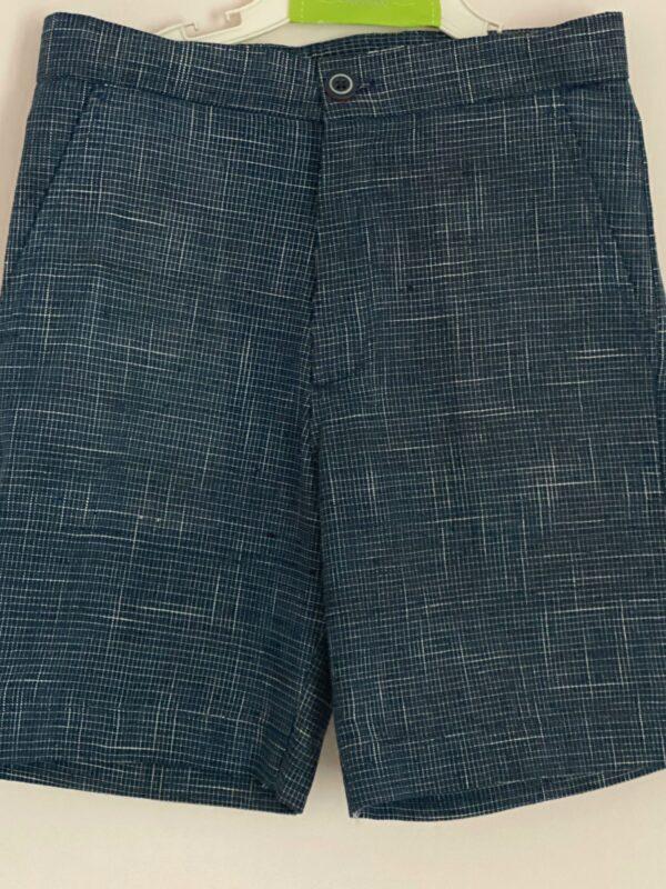 Ocean Splash - Blue shorts in Khadi