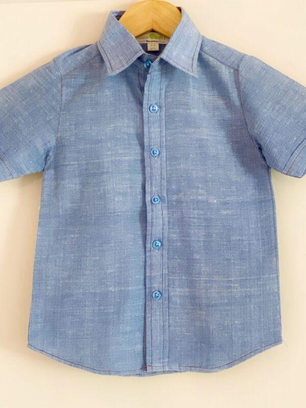 Sky line (Handspun Blue shirt for boys)