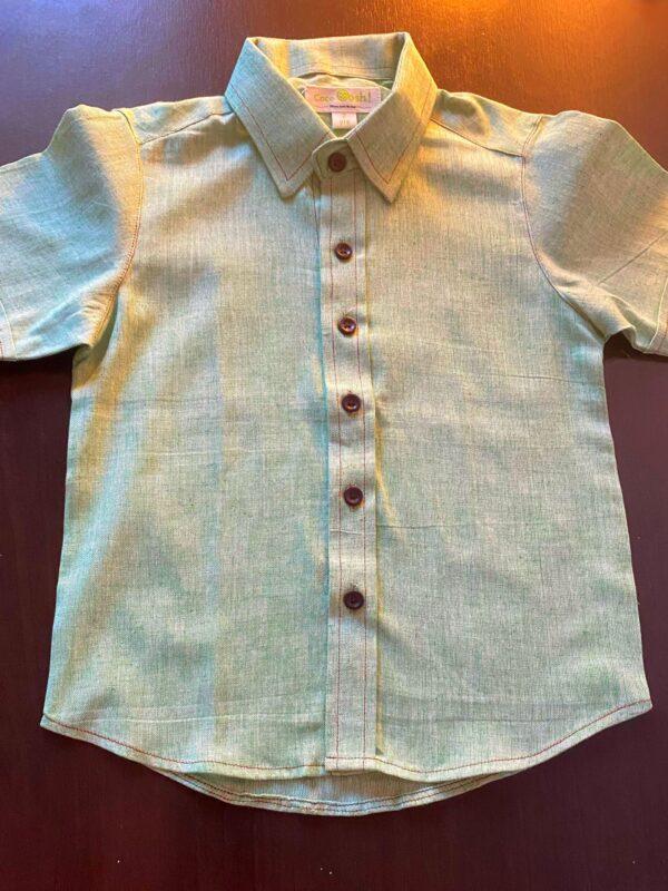 Fawn (Handspun Green shirt for boys)