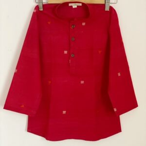 Boys Red Kurta