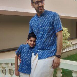 Father son twinning shirts