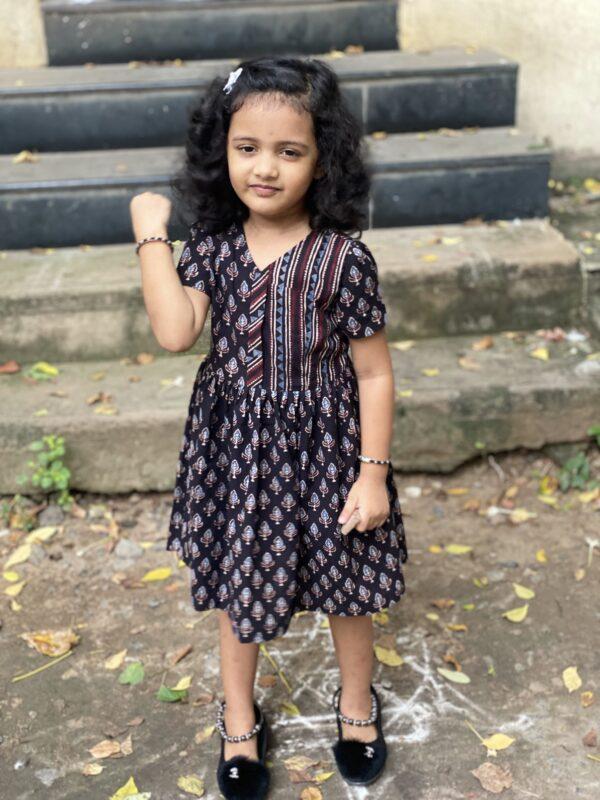 Ajrakh Black printed dress by Coco Oosh!